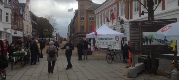 Valgkamp på Torvet i Herning