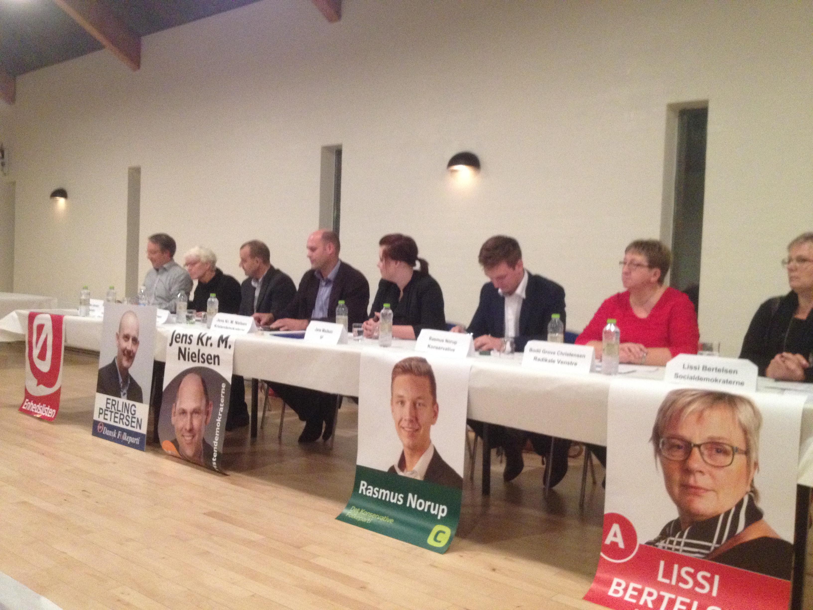 Vælgermøde i Multicenter Hodsager