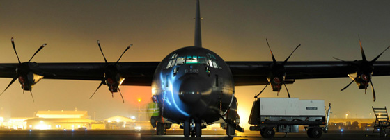 Hercules C-130 transportfly