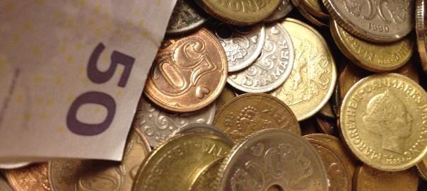 Mønter og en halvtredser